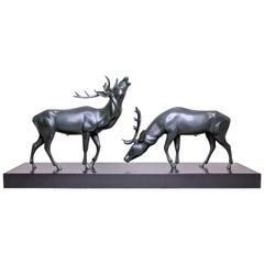 "Art Deco Bronze Sculpture ""Deer"", Austria, circa 1925"
