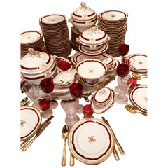 19th Century circa 1880 Porcelaine De Paris Table Service, Porcelain
