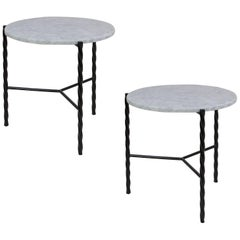 Customizable Pair of Von Iron Side Tables from Souda, Made to Order