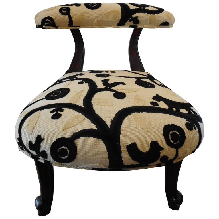 Admirable 19Th Century Childs Chair Or Stool Upholstered In Classic Bralicious Painted Fabric Chair Ideas Braliciousco