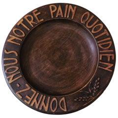 French Wood Bread Platter, circa 1950