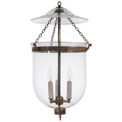 19th Century Clear Glass Bell Jar Lantern