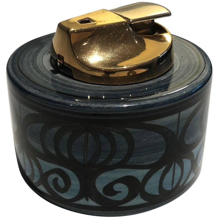 Midcentury Vintage Ronson Ceramic Table Lighter