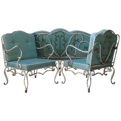 French 1940s Art Deco Patio Set