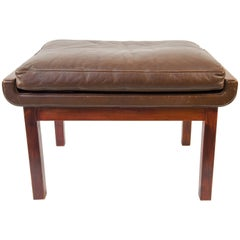 Finn Juhl for France and Son Rosewood and Leather Stool