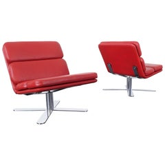 """Vintage Leather """"Solo"""" Chairs by John Follis"""