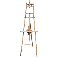 Antique Spindle Wood Easel Found in France