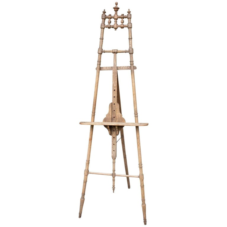 French oak easel, 1900