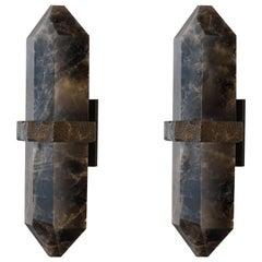 DSH Rock Crystal Quartz Wall Sconces by Phoenix