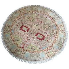 Nourmak Round Wool Rug S123 Gold