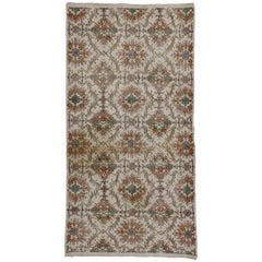 Distressed Vintage Turkish Sivas Rug with Shabby Chic Farmhouse Style