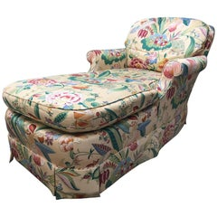 Tropical Print Chaise Lounge by Baker