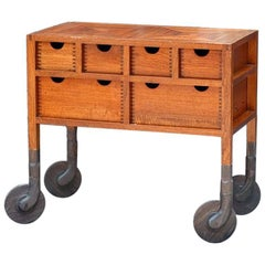 AKMD Collection Shaker Inspired Low-Rolling Wood Dresser