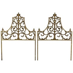 Pair of Regency Style Twin Headboards