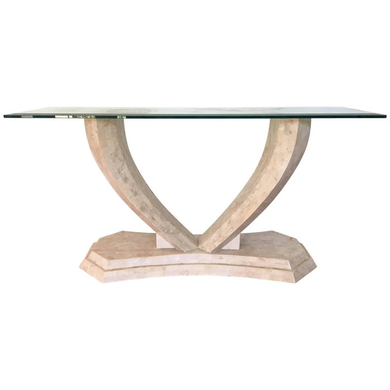 Robert Marcius for Casa Bique Tessellated Stone Console Table