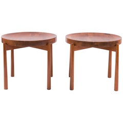 Jens Quistgaard Style Solid Teak Side Tables