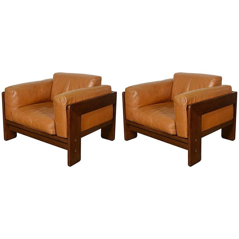 Tobia Scarpa Bastiano Lounge Chairs for Gavina