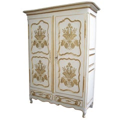Painted French Armoire