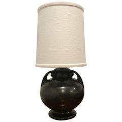 American Art Deco 1930 Art Pottery Table Lamp
