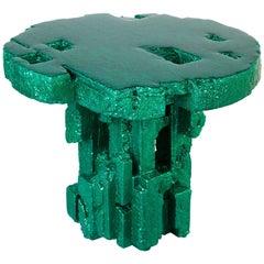 "Chris Schanck, ""Spore,"" Side Table, Green, Resin, Steel, Polystyrene, 2018"