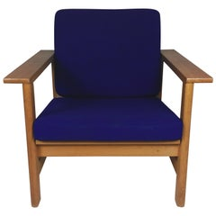 1980s Soren Holst Danish Lounge/Easy Chair in Oak by Frederecia Furniture