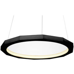 Matthew McCormick 28 Dodeca Pendant Drop Lamp Chandelier, Black