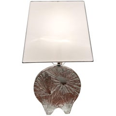 Daum Crystal French 1960 Table Lamp