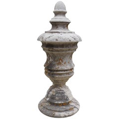 Antique French Limestone Finial Ornament