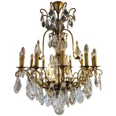 Large French Chandelier with 12 Lights