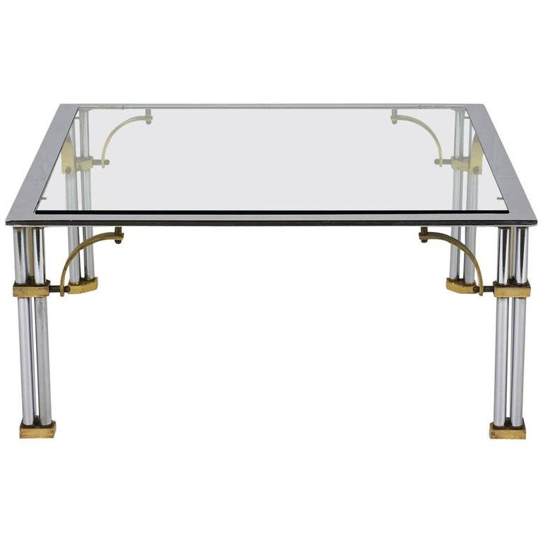 Mid-century Modern Jansen Style Coffee Table For Sale