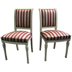 19th Century Pair of French Side Chairs in Louis XVI Style