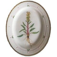 Royal Copenhagen Flora Danica Oval Serving Tray #735/3516