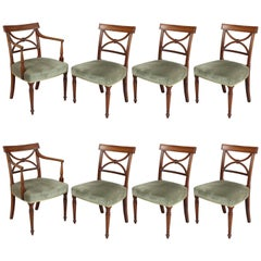 Set of Eight George III Period Mahogany Dining-Chairs