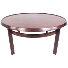Scandinavian Rosewood Coffee Table by Haug Snekkeri for Bruksbo