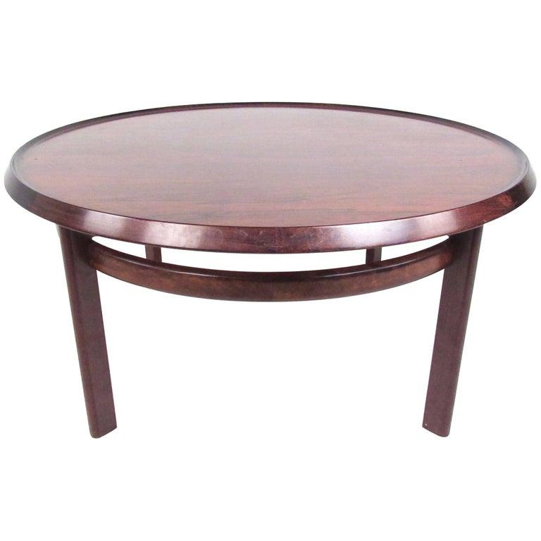 Scandinavian Rosewood Coffee Table by Haug Snekkeri for Bruksbo