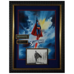 Superman The Movie Christopher Reeve Autographed Framed Memorabilia Display