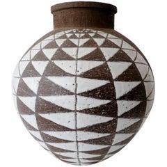 1950s Thomas Toft Denmark Studio Pottery Bulbous Vase
