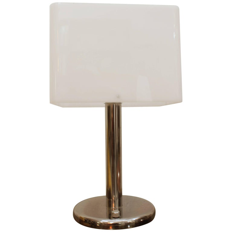 Acrylic and Chrome Table Lamp by RAAK