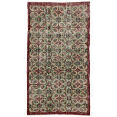 Zeki Muren Vintage Turkish Rug With French Country, Swedish Farmhouse Style