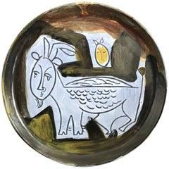 Jacques Innocenti Decorative Ceramic Dish, 1950s