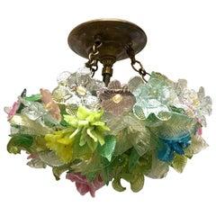 Antique Venetian Millefiori Glass Light Fixture