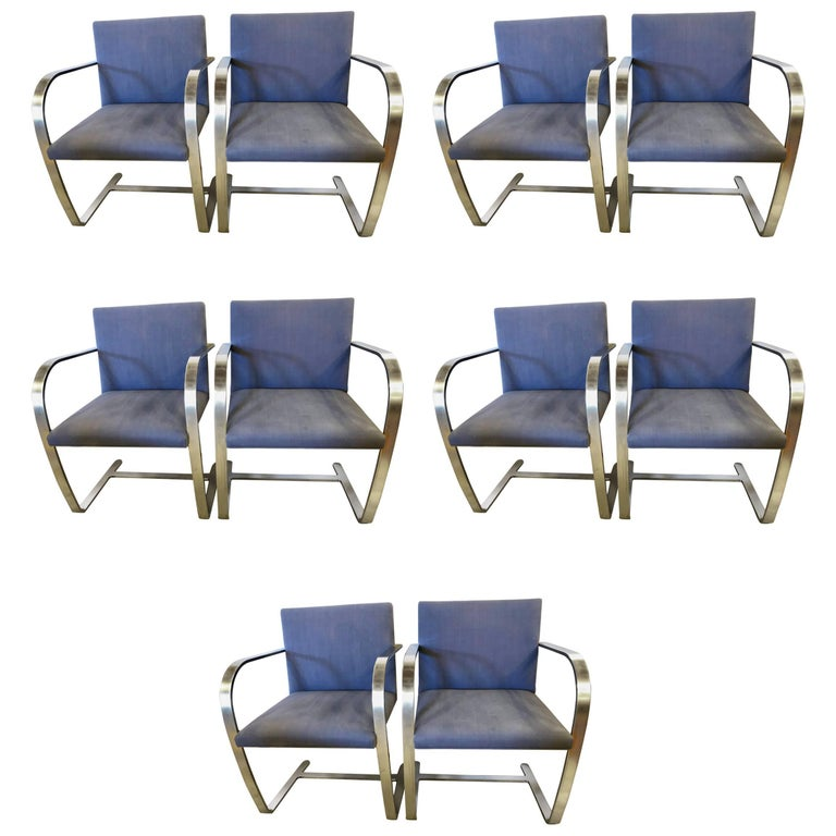 Rare Set of Ten Mies van der Rohe Dining Chairs for Knoll