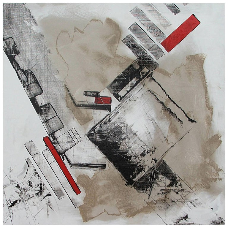 "Abstract Painting Titled ""Urban Exposure No. 18"" by Artist Philippe Chambon"