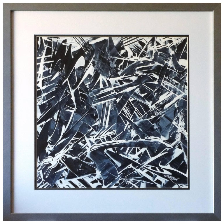 """Abstract Painting Titled """"Shadow No 2"""" by Artist Philipppe Chambon For Sale"""