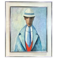French Midcentury Portrait of a Man by Jacqueline Fromenteau