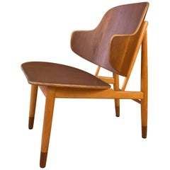 Ib Kofod-Larsen for Christensen and Larsen Teak and Beech Lounge Chair