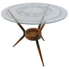 Coffee Table Paolo Buffa Years 1940 Zodiac Signs