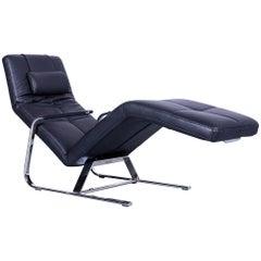 Ewald Schillig Vita Designer Couch Leather Black One-Seat Function Modern
