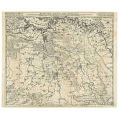 Antique Map of Brabant 'The Netherlands' by N. Visscher, circa 1690
