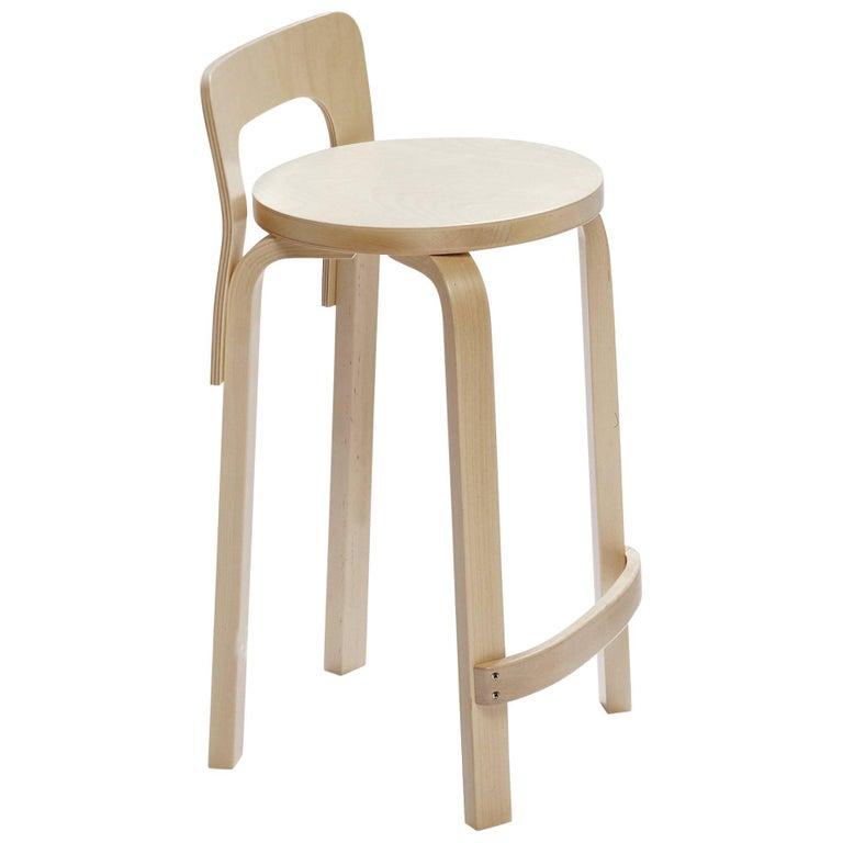 Authentic High Chair K65 in Lacquered Birch by Alvar Aalto & Artek